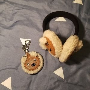 Coach Sheep Earmuffs and Keychain Duo
